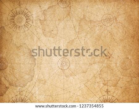 Vintage treasure map background #1237354855