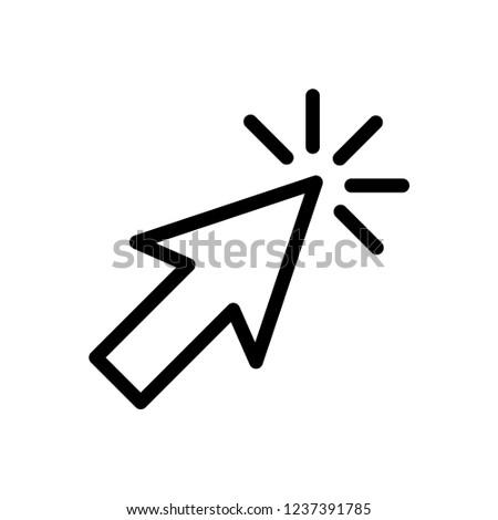 Pointer Arrow Icon Vector Logo Template #1237391785