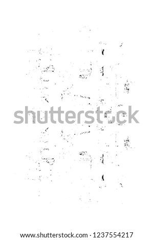 Black And White Distressed Grunge Vector Overlay Template. Dark Paint Weathered Texture. Abstract Dirty Creative Design Backdrop Element  #1237554217