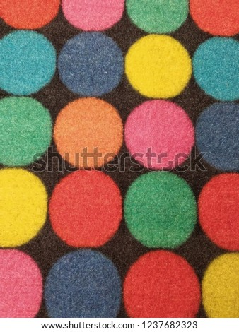 Rostov-on-don, Russia-17 November, 2018: Multi-colored Mat for shoes lying  on the floor #1237682323