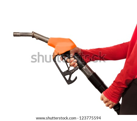Gas Station Worker and service on white background #123775594