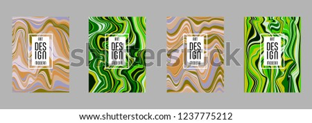 Covers templates set with bauhaus, memphis and hipster style graphic geometric elements. Applicable for placards, brochures, posters, covers and banners. #1237775212