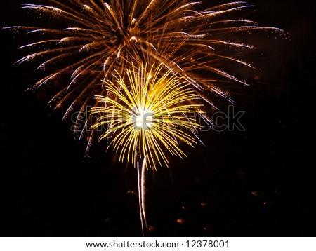 fireworks display Royalty-Free Stock Photo #12378001