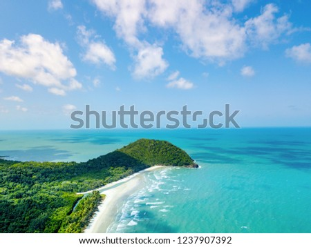 Cape Tribulation in Tropical North Queensland from an aerial view #1237907392