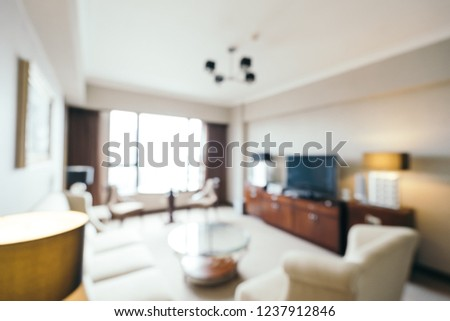 Abstract blur and defocused living room interior for background #1237912846