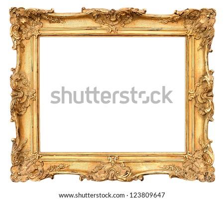 old golden frame. beautiful vintage background #123809647