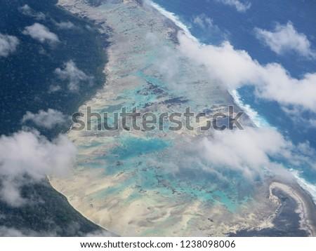Aerial view of North Sentinel Island, Andaman. #1238098006