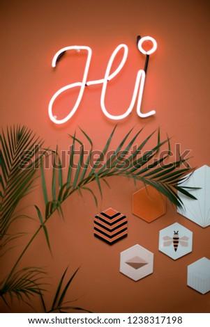 hi - neon light sign