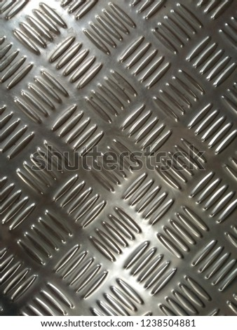 The pattern of the white steel plate. #1238504881