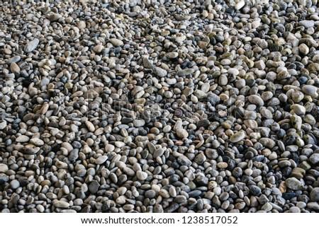 Gravel stones texture background. #1238517052