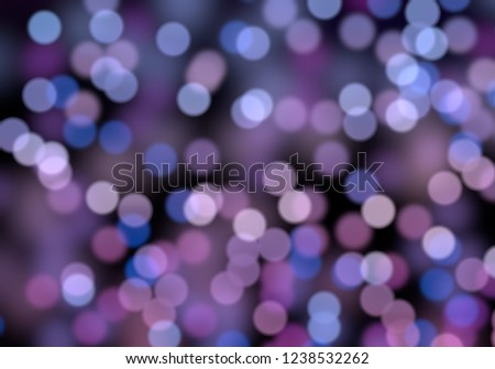 2d illustration of christmas bokeh on dark background. abstract texture. Defocused background. Blurred bright light. Circular points. Christmas eve time. Colorful circles. #1238532262
