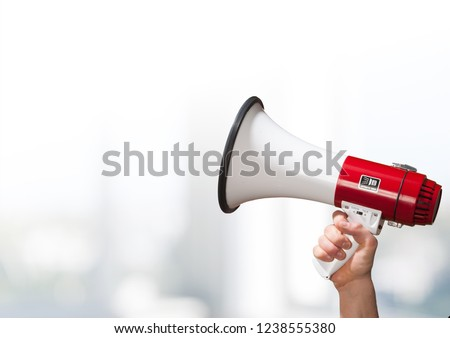 Megaphone attention background advertisement amplifier announce announcement Royalty-Free Stock Photo #1238555380