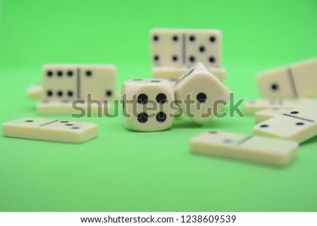 game of dominoes play number green table fortune lucky casino #1238609539