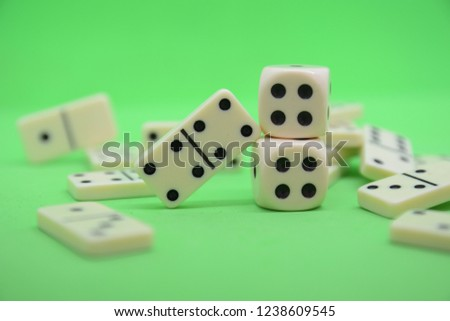game of dominoes play number green table fortune lucky casino #1238609545