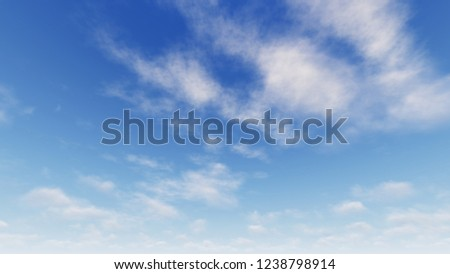 Cloudy blue sky abstract background, blue sky background with tiny clouds, 3d rendering #1238798914