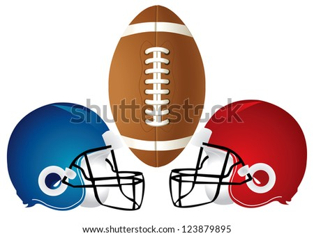 Raster version Illustration of a football design with helmets.