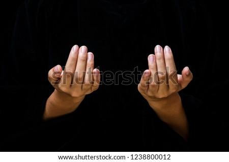 Hand on Black #1238800012