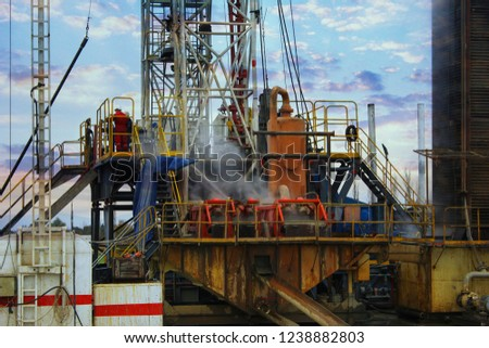 Drilling Well Platform, Equipments and Campus View #1238882803