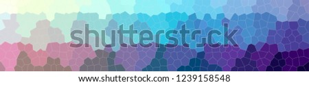 Illustration of abstract Blue, Red And Purple Small Hexagon Banner background. #1239158548