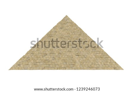 Egyptian Pyramid Isolated. 3D rendering #1239246073