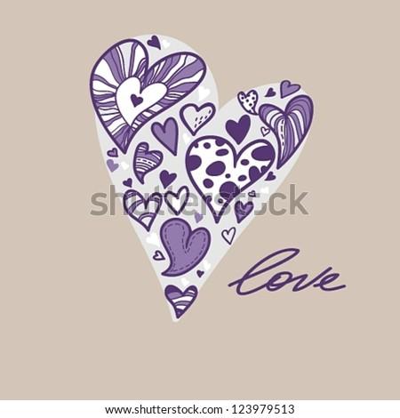Vector illustration of heart #123979513