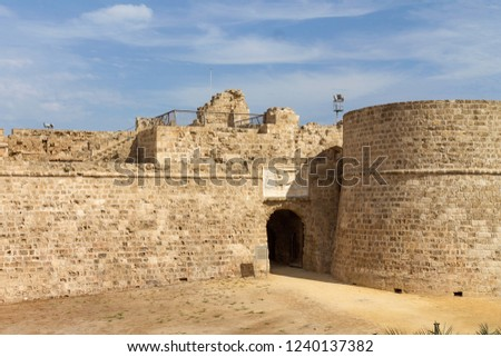 Othello Castle in harbor of Famagusta, Northern Cyprus #1240137382