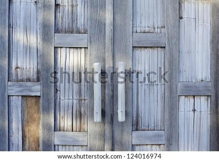 bamboo - bamboo texture - house door - wood texture #124016974