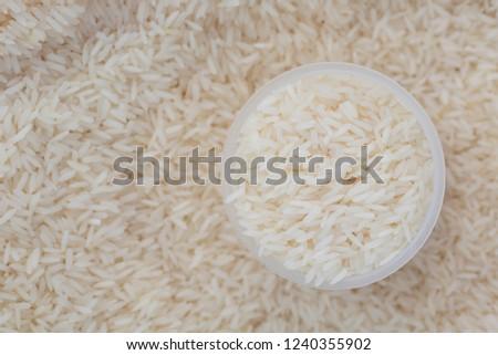 Thai Jasmine rice with close up shot. #1240355902