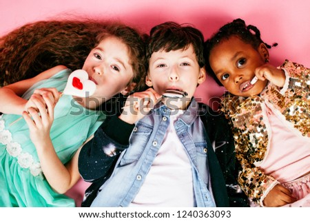 lifestyle people concept: diverse nation children playing togeth #1240363093