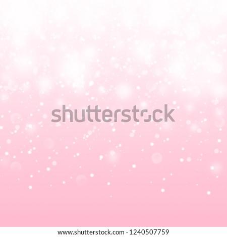 Cute Pink Baby Girl Pattern. Shiny Glitter Princess Background. Pink baby girl backdrop. Girly luxury falling glitter background.