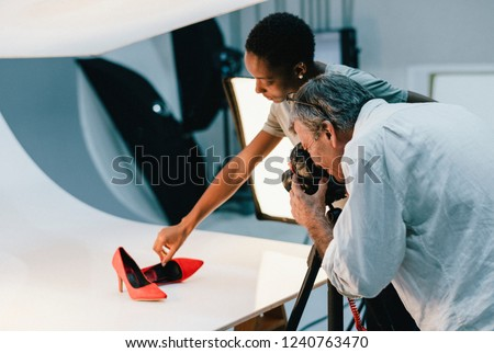 Product photography shoot of shoes #1240763470