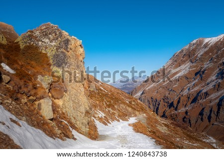 Touristic trail in the Swiss Alps #1240843738