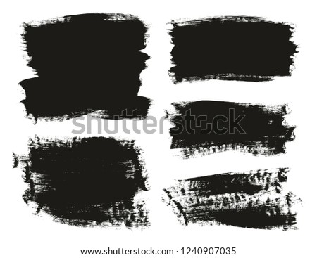 Calligraphy Paint Brush Background Mix High Detail Abstract Vector Background Set 10 #1240907035