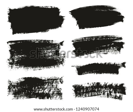 Calligraphy Paint Brush Background Mix High Detail Abstract Vector Background Set 21 #1240907074
