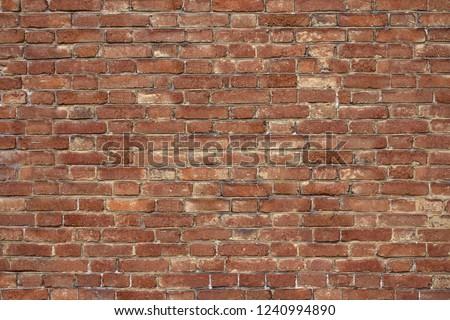 Vintage brick old brickwork. #1240994890