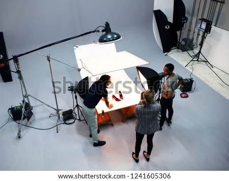 Product photography shoot of shoes #1241605306