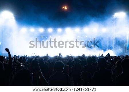 Concert crowds having fun #1241751793