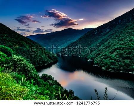 Lake, mountain, sky #1241776795