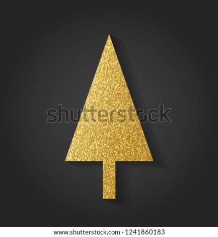 Beautiful Golden Christmas Tree #1241860183