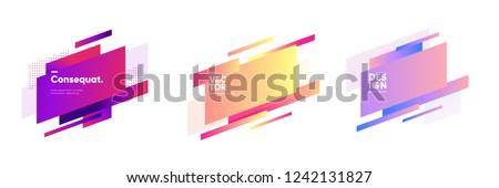 Geometric badges set. Trendy minimal design. Eps10 vector. Royalty-Free Stock Photo #1242131827