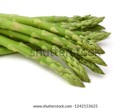 Asparagus on the white background  #1242153625