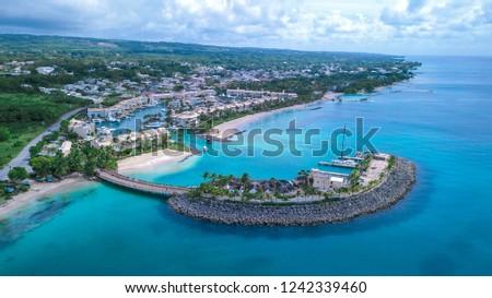 Luxury Places on the Coastline of Barbados Island, Caribbean Paradise #1242339460