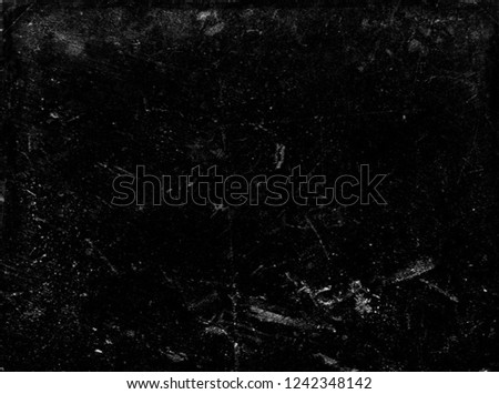 Black scratched scary background, distressed old texture #1242348142