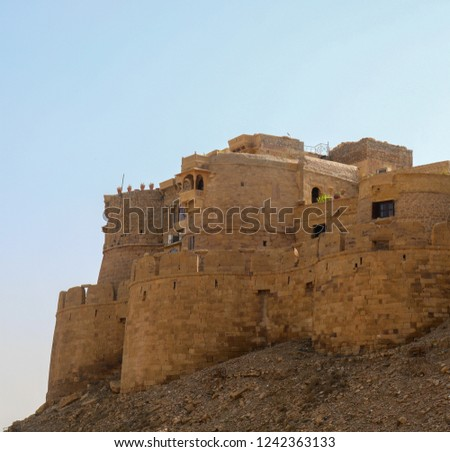 Jaisalmer Fort is the second oldest fort in Rajasthan, built in 1156 AD by the Rajput Rawal (ruler) Jaisal from whom it derives its name.  #1242363133