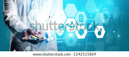 Health banner care healthcare management risk security #1242515869