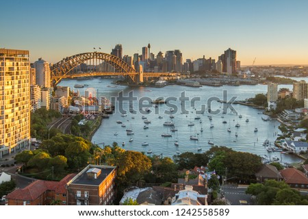 Cityscape of Sydney taken at the evening time #1242558589