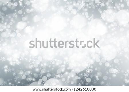 white blur abstract background. bokeh christmas blurred beautiful shiny Christmas lights #1242610000