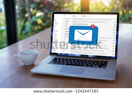 Mail Communication Connection message to mailing contacts phone Global Letters Concept #1242647185