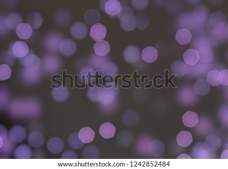 2d illustration of christmas bokeh on dark background. abstract texture. Defocused scattered dots background. Blurred bright light. Circular points. Christmas eve time. Colorful circle shapes. #1242852484