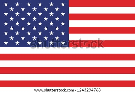 American Flag. Vector image of American Flag. American Flag background. American Flag illustration. United States of America. USA. The Star-Spangled Banner with Stars and Stripes. USA. United States. #1243294768